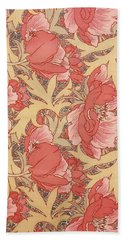 Beach Towel featuring the painting Poppies by William Morris