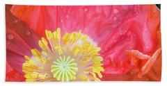 Poppy Closeup Beach Towel