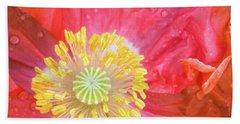 Poppy Closeup Beach Sheet