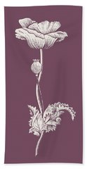Poppy Purple Flower Beach Towel