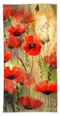 Poppy Serenade Beach Towel