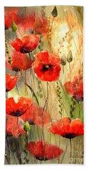 Poppy Serenade Beach Towel