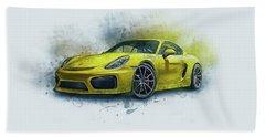 Porsche 911 Beach Towel