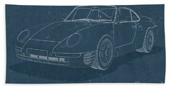 Porsche 959 - Blueprint Beach Sheet
