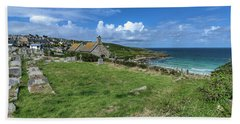 Porthmeor From Barnoon - St Ives Cornwall Beach Sheet