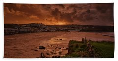 Porthmeor Sunset 2 Beach Towel