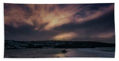 Porthmeor Sunset 4 Beach Towel