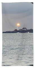 Portland Head Lighthouse Through The Gun Port Beach Towel