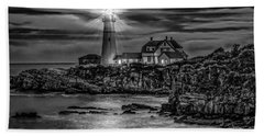 Portland Lighthouse 7363 Beach Towel