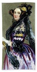 Portrait Of Augusta Ada King,countess Of Lovelace Beach Towel