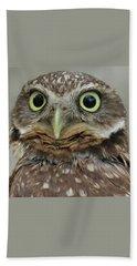 Portrait Of Burrowing Owl Beach Towel