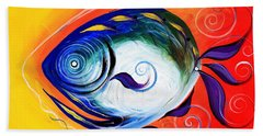Positive Fish Beach Towel