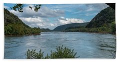Potomac River At Harper's Ferry Beach Sheet