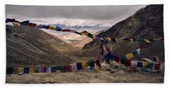 Prayer Flags In The Himalayas Beach Towel