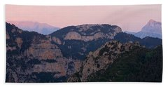 Beach Towel featuring the photograph Pre Pyrenees Sunset by Stephen Taylor