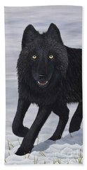 Beach Towel featuring the painting Predator by Tracey Goodwin