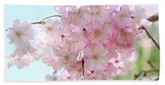 Pretty Pink Blossoms Beach Sheet
