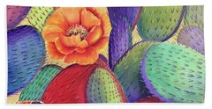 Prickly Rose Garden Beach Towel