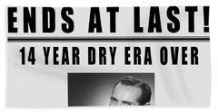 Prohibition Ends Toast - New York Times 1933 - T-shirt Beach Towel