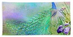 Proud Peacock Beach Towel
