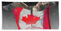Proud To Be Canadian Beach Towel