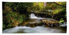 Beach Towel featuring the photograph Provo Deer Creek Cascades by TL Mair