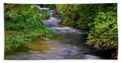 Beach Towel featuring the photograph Provo Deer Creek by TL Mair