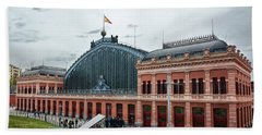 Puerta De Atocha Railway Station Beach Towel