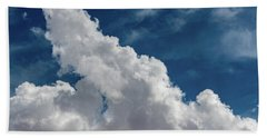 Puffy White Clouds Beach Sheet
