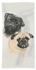 Pug Brothers Beach Sheet