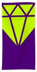 Purple Diamond Yellow Beach Towel