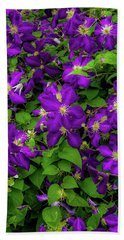 Beach Towel featuring the photograph Purple Flowers by Lora J Wilson