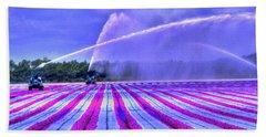Purple Grain Beach Towel