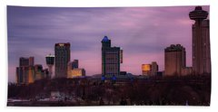 Purple Haze Skyline Beach Towel