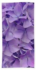 Purple Hydrangea  Beach Towel