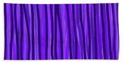 Purple Lines Beach Towel