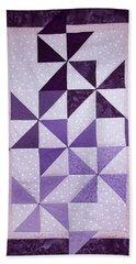 Purple Pinwheels Pirouetting Beach Towel