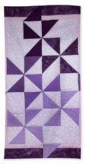 Purple Pinwheels Pirouetting Beach Sheet