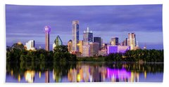 Purple Rain City Of Dallas Texas Beach Towel