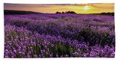 Purple Sea Beach Sheet