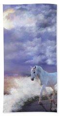Beach Towel featuring the digital art Purple Storm by Melinda Hughes-Berland