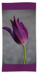 Purple Tulip Beach Towel