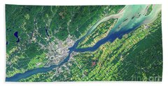 Quebec City From Space Beach Towel