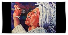 Beach Towel featuring the painting Queen Of Soul by Michal Madison