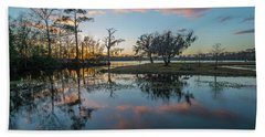 Quiet River Sunset Beach Towel