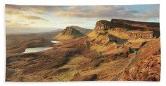 Quiraing Morning Light - Isle Of Skye Beach Towel