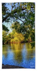 Beach Towel featuring the photograph Quite Idaho Evening On The Boise River by Jon Burch Photography