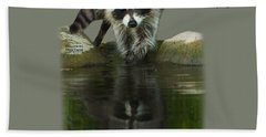 Raccoon Puzzler And Mastermind Beach Towel