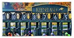 Fall Racing At Keeneland  Beach Towel