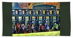Fall Racing At Keeneland  Beach Towel